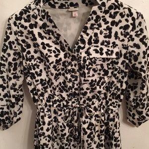 🦊 Merona cheetah print asymmetrical dress. Lined